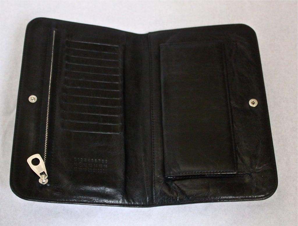 MARTIN MARGIELA black leather glove clutch - 2007 2