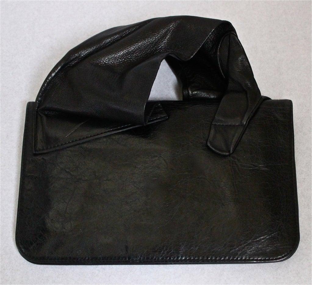MARTIN MARGIELA black leather glove clutch - 2007 3