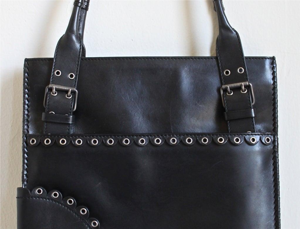 TOM FORD for YVES SAINT LAURENT 2001 black leather bag at 1stdibs