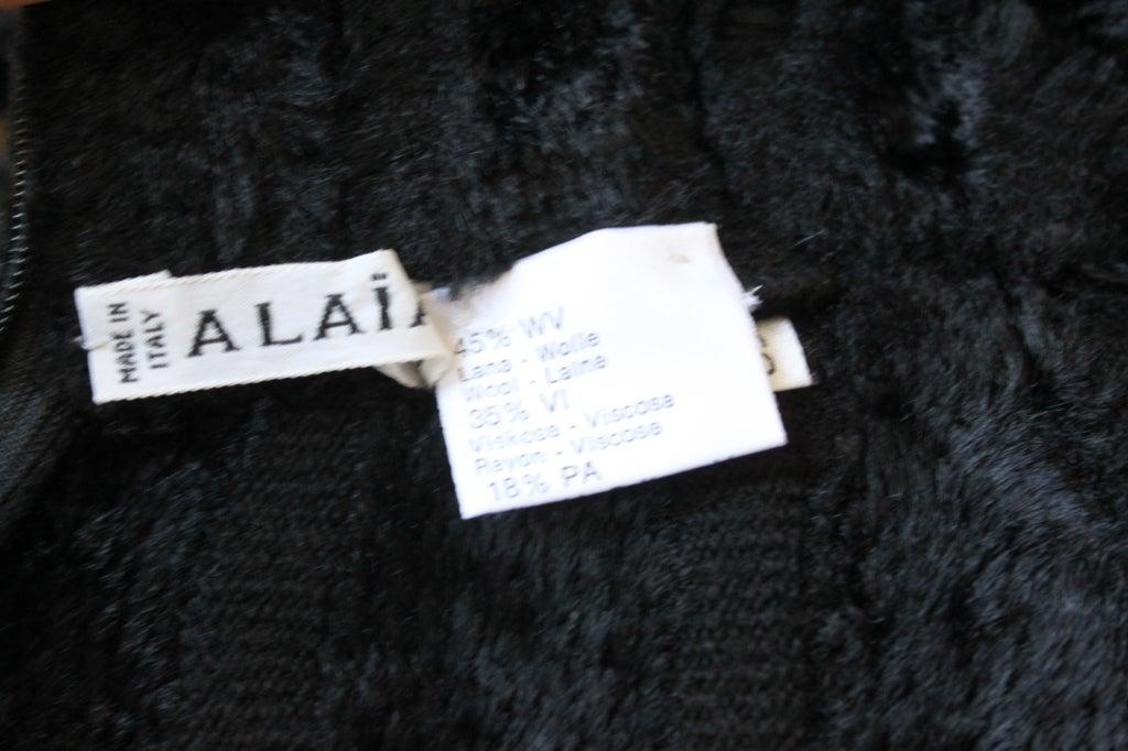 AZZEDINE ALAIA black ribbed chenille mini dress - 1991 In Excellent Condition For Sale In Oakland, CA