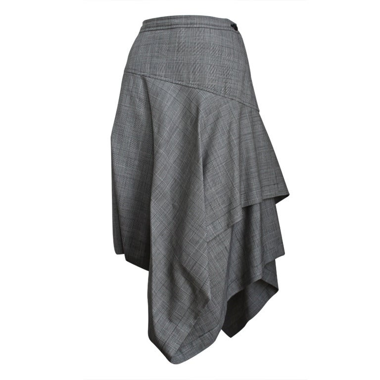 COMME DES GARCONS asymmetrical houndstooth skirt 1