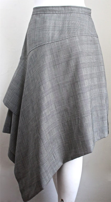 COMME DES GARCONS asymmetrical houndstooth skirt 2
