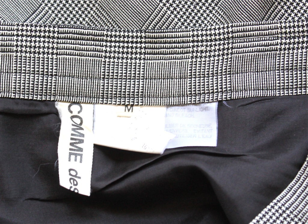 COMME DES GARCONS asymmetrical houndstooth skirt 3