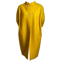 BALENCIAGA EISA haute couture yellow wool coat