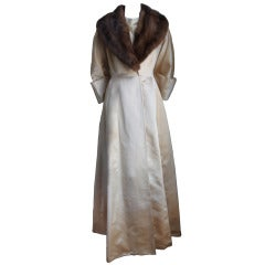 *SALE* 1950's CASTILLO JEANNE LANVIN silk satin evening ensemble