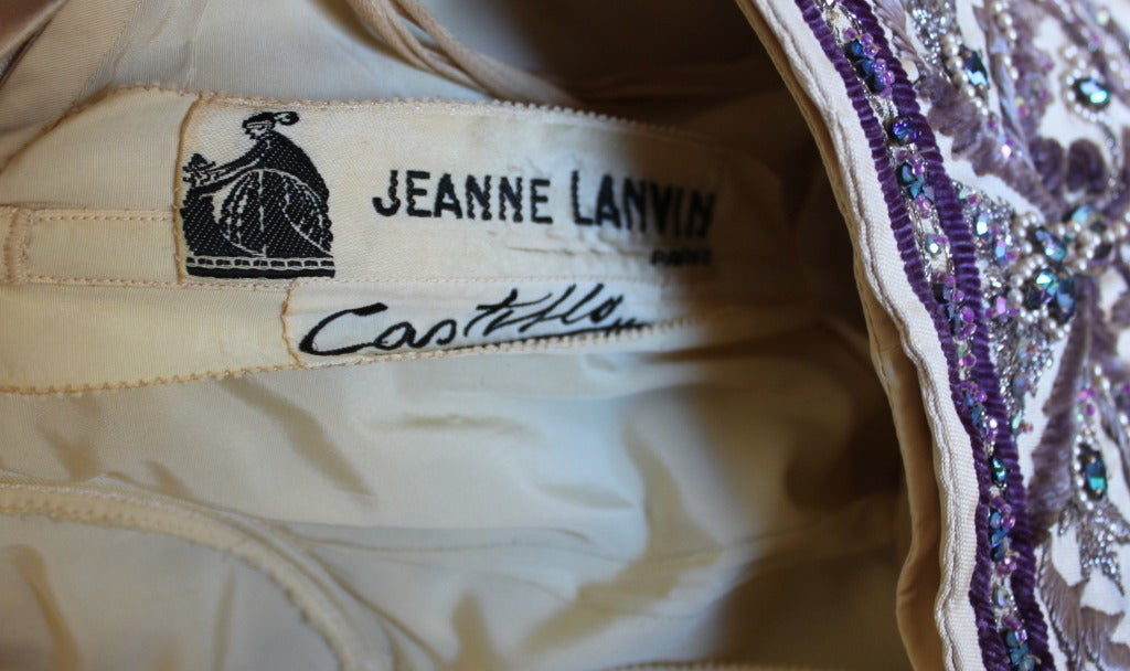 CASTILLO - JEANNE LANVIN haute couture gown with Lesage embroidery & beading For Sale 5