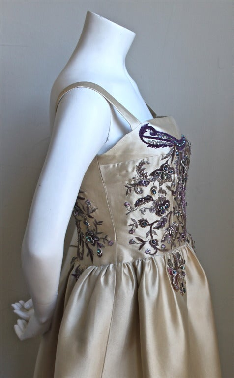 CASTILLO - JEANNE LANVIN haute couture gown with Lesage embroidery & beading For Sale 1
