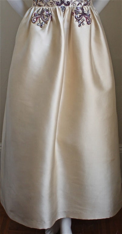 CASTILLO - JEANNE LANVIN haute couture gown with Lesage embroidery & beading For Sale 2