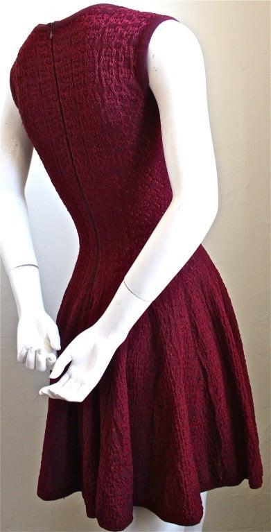 AZZEDINE ALAIA burgundy 'Muguet' dress 3