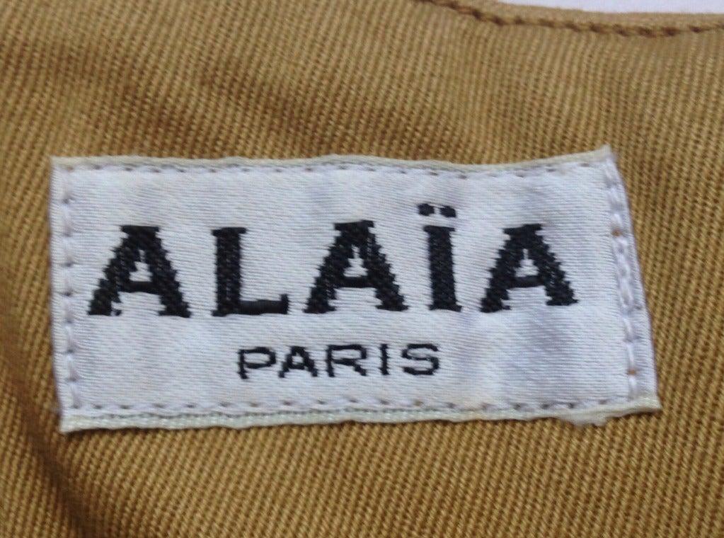 1980's AZZEDINE ALAIA khaki twill corset belt 2