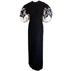 1960'S PIERRE BALMAIN haute couture velvet gown with embroidery & beading
