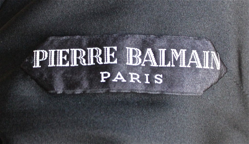 1960'S PIERRE BALMAIN haute couture velvet gown with embroidery & beading 7