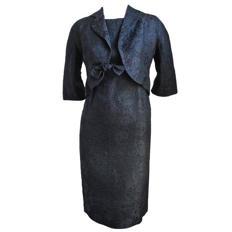 1960 39 s balenciaga haute couture black brocade dress and for 1960 s haute couture