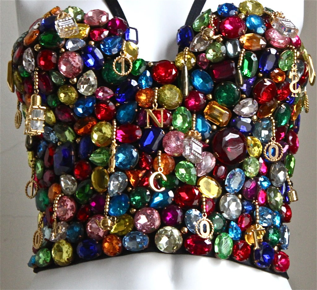 1991 Dolce & Gabbana 'Le Pin Up' jewelled bustier corset image 2