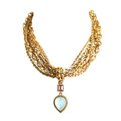 1980's KARL LAGERFELD gilt chain necklace