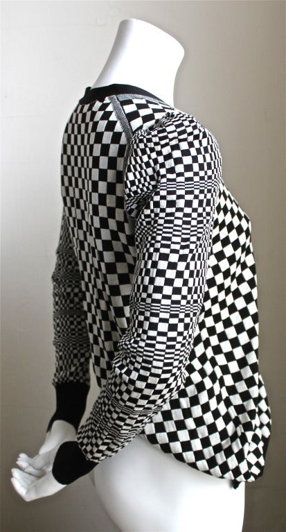 JUNYA WATANABE COMME DES GARCONS checkered twisted 'cardigan' sweater 2