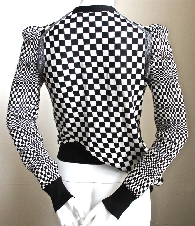 JUNYA WATANABE COMME DES GARCONS checkered twisted 'cardigan' sweater 4