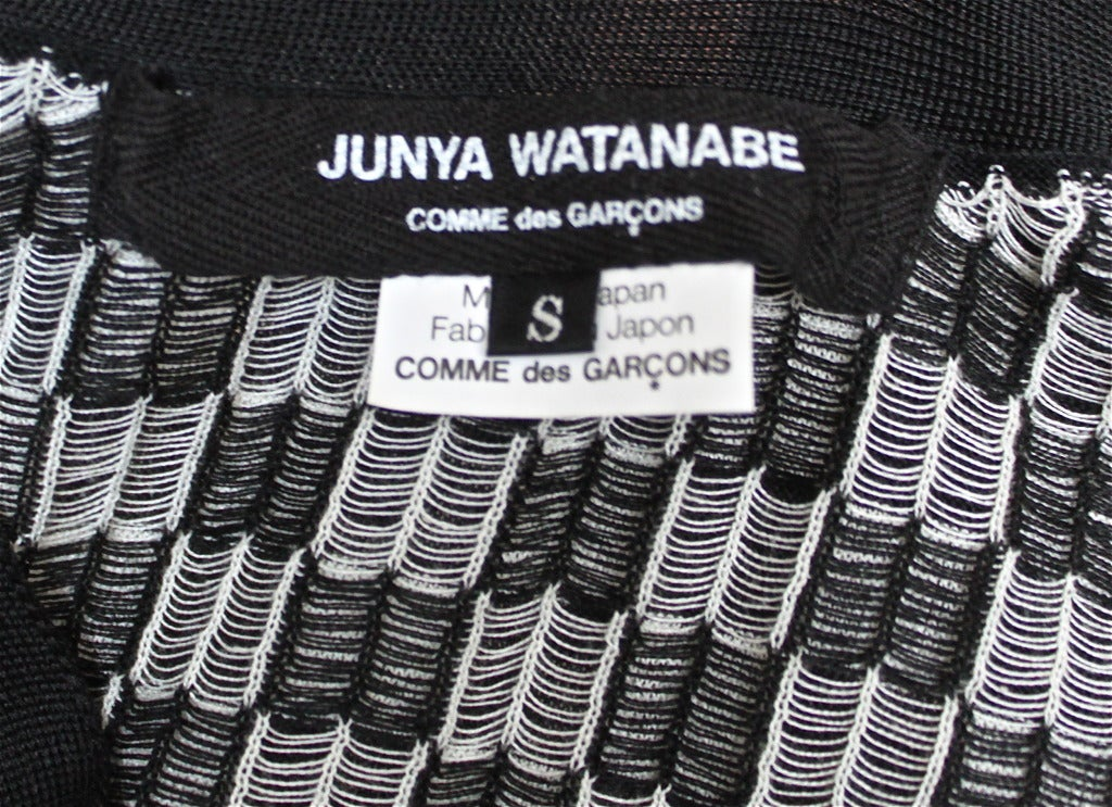 JUNYA WATANABE COMME DES GARCONS checkered twisted 'cardigan' sweater 6