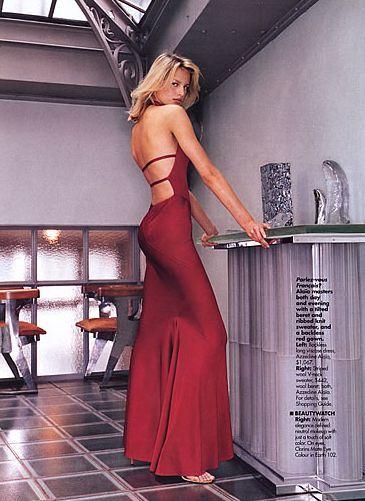 1991 AZZEDINE ALAIA jet black backless halter gown 5