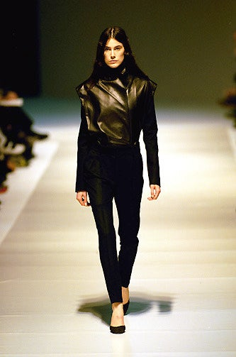 1999 Nicolas Ghesquiere for BALENCIAGA leather jacket worn on runway  In Good Condition For Sale In San Francisco, CA