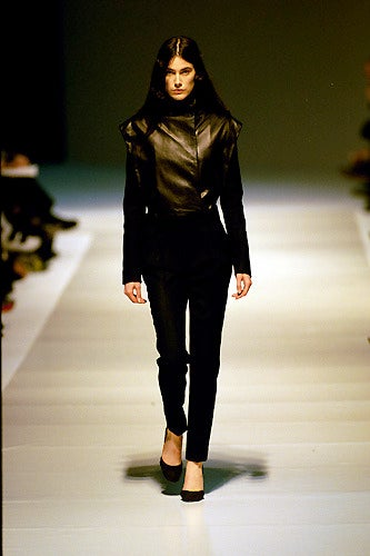 Women's 1999 Nicolas Ghesquiere for BALENCIAGA leather jacket worn on runway  For Sale