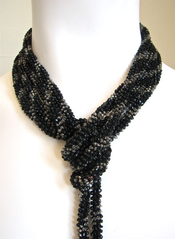 extra long 1920's beaded sautoir necklace image 2