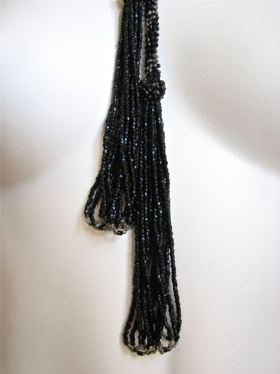 extra long 1920's beaded sautoir necklace image 3