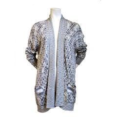 MISSONI black and white cardigan jacket