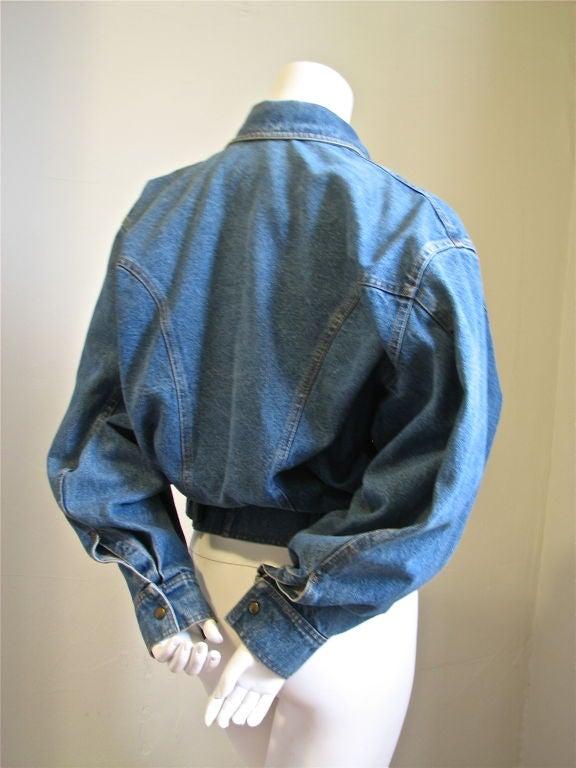 AZZEDINE ALAIA oversized denim jacket with fitted waist 3