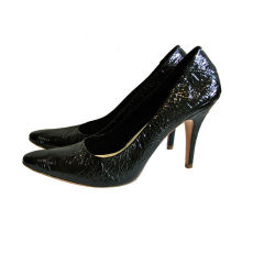 unworn MARTIN MARGIELA black patent leather stilettos - size 41