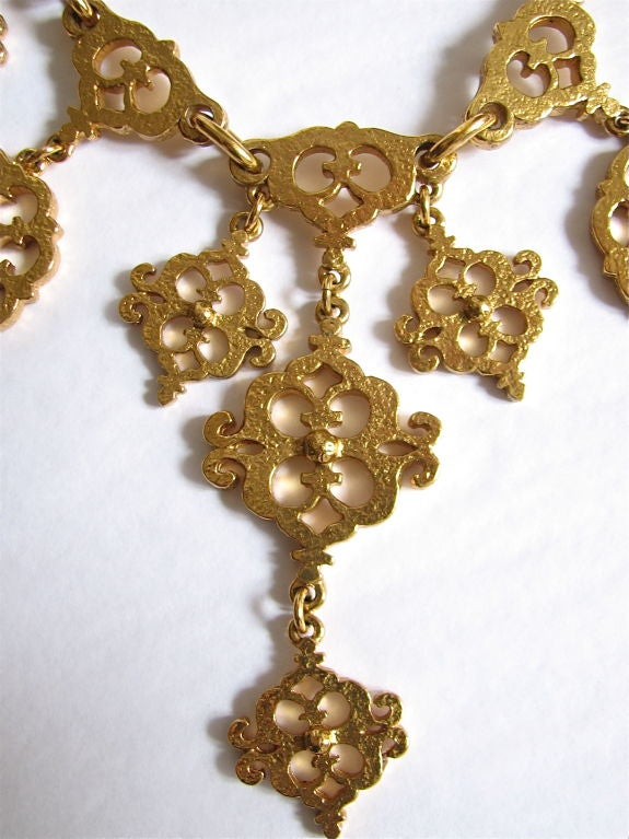 YVES SAINT LAURENT gilt filagree neckace 2