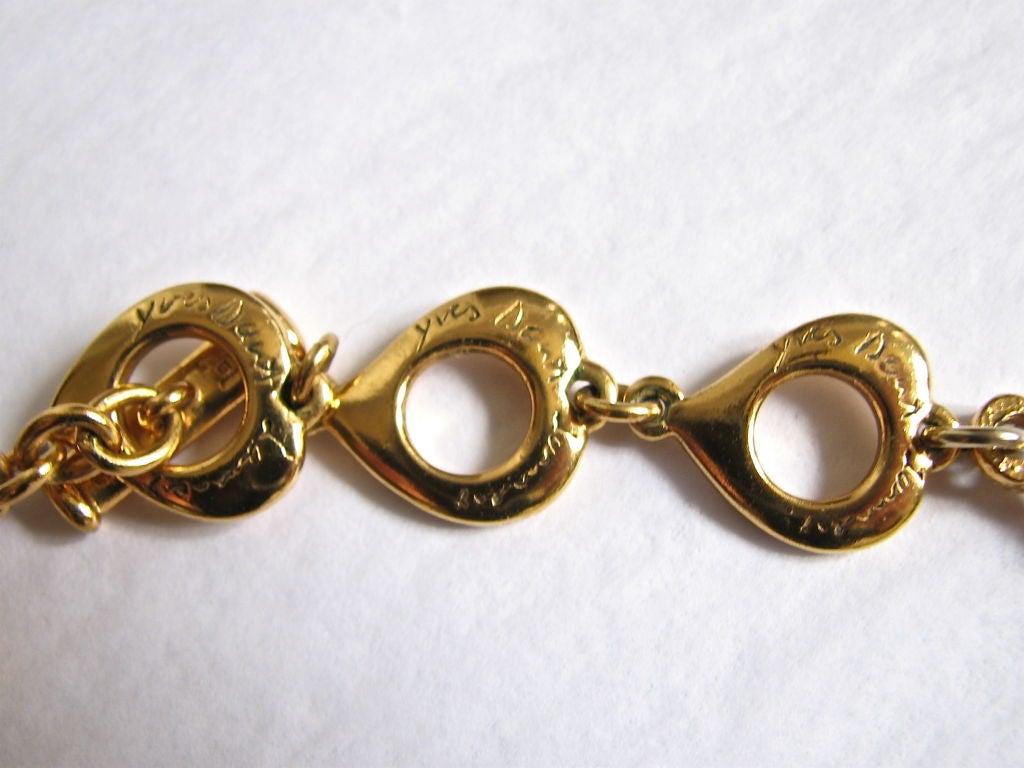 YVES SAINT LAURENT gilt filagree neckace 3