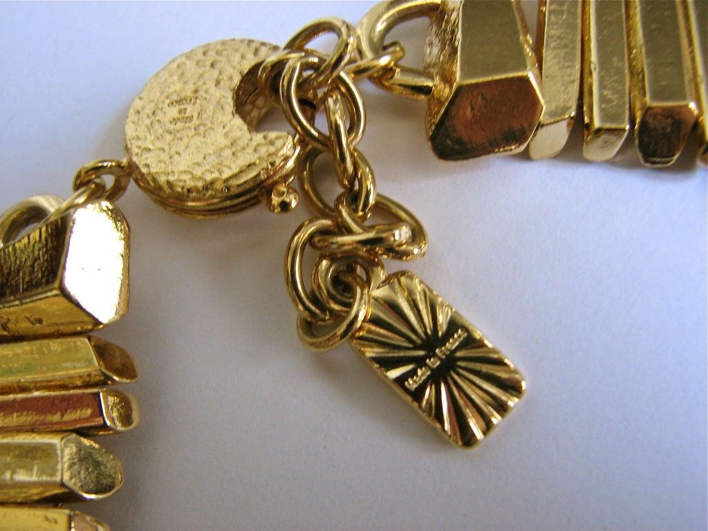 Women's YVES SAINT LAURENT gilt 'prism' collar