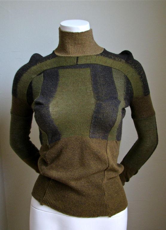 MARTIN MARGIELA artisanal top made of army socks - 1991 2
