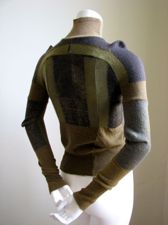 MARTIN MARGIELA artisanal top made of army socks - 1991 3