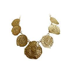 CHARLES JOURDAN gilt 'shell' necklace