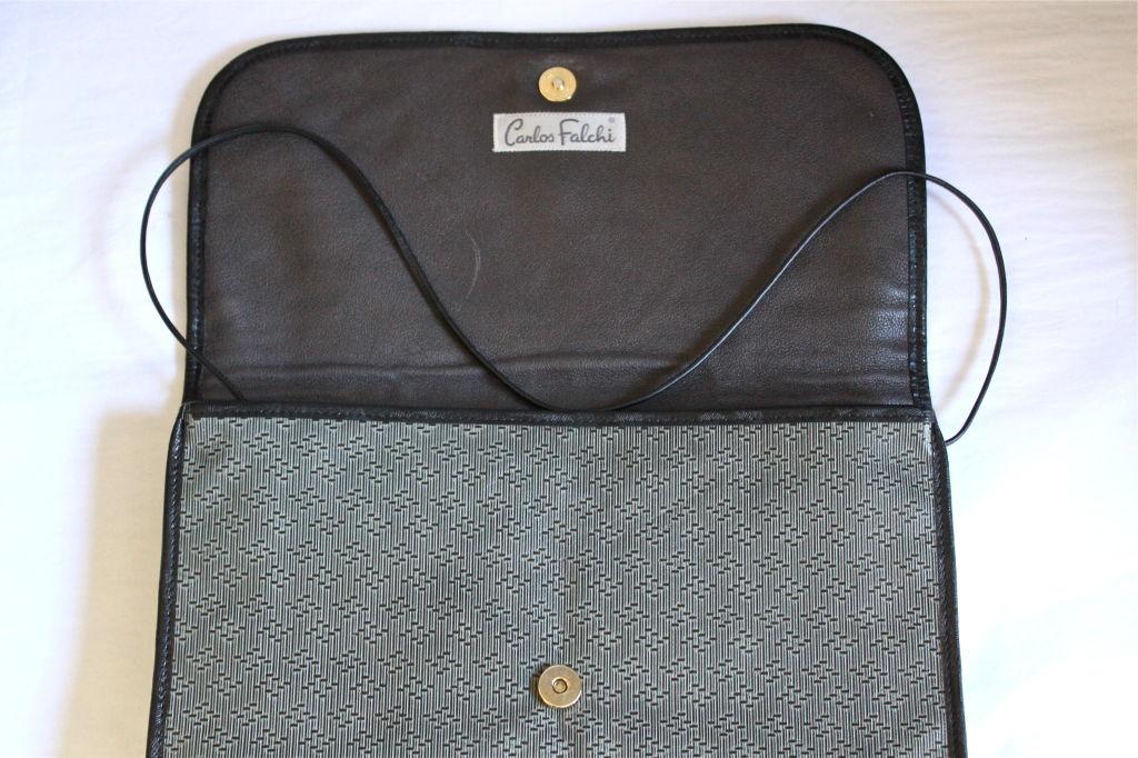 CARLOS FALCHI clutch with snakeskin trim 4