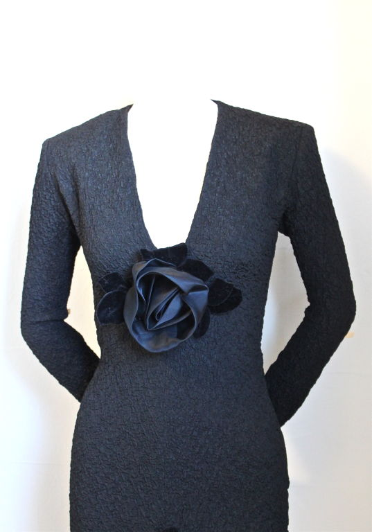 YVES SAINT LAURENT dress with rosettes 2