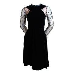 JACQUELINE de RIBES velvet and lace dress