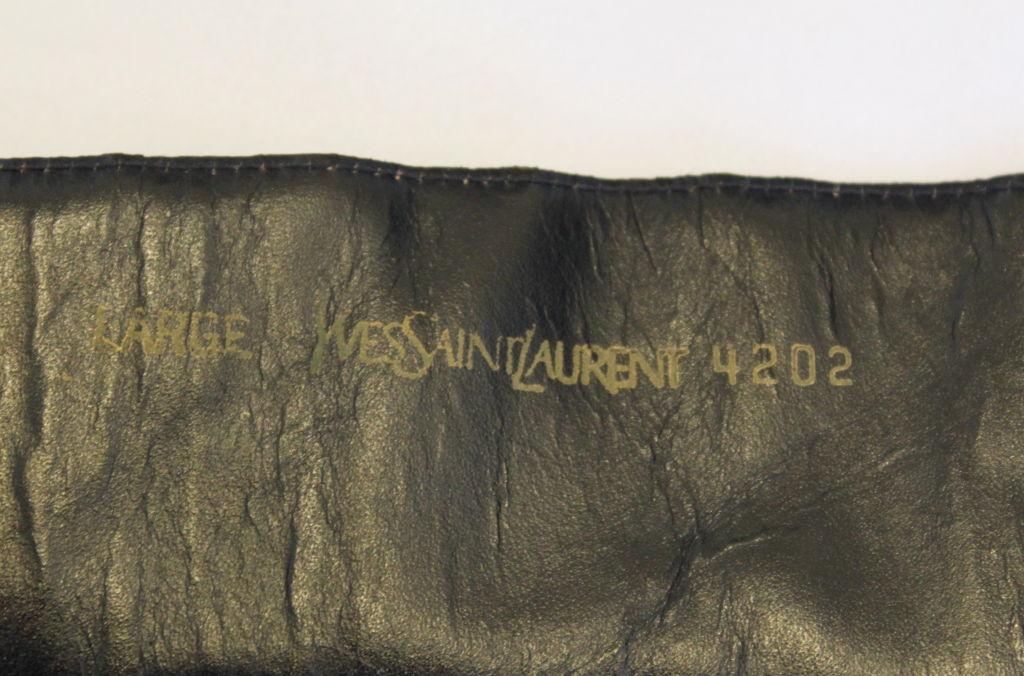 YVES SAINT LAURENT black patent leather corset belt 2