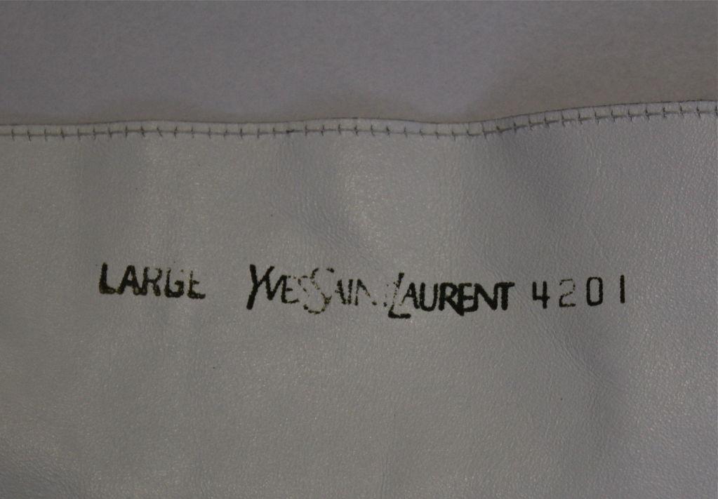 unworn YVES SAINT LAURENT white leather corset belt 3