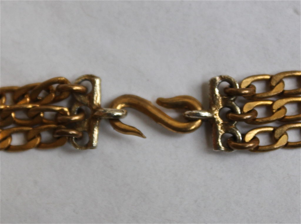 YVES SAINT LAURENT gilt coins and crosses necklace 2