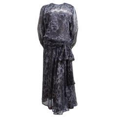 1970's YVES SAINT LAURENT haute couture silk dress was