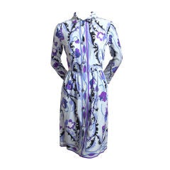 EMILIO PUCCI silk floral silk dress