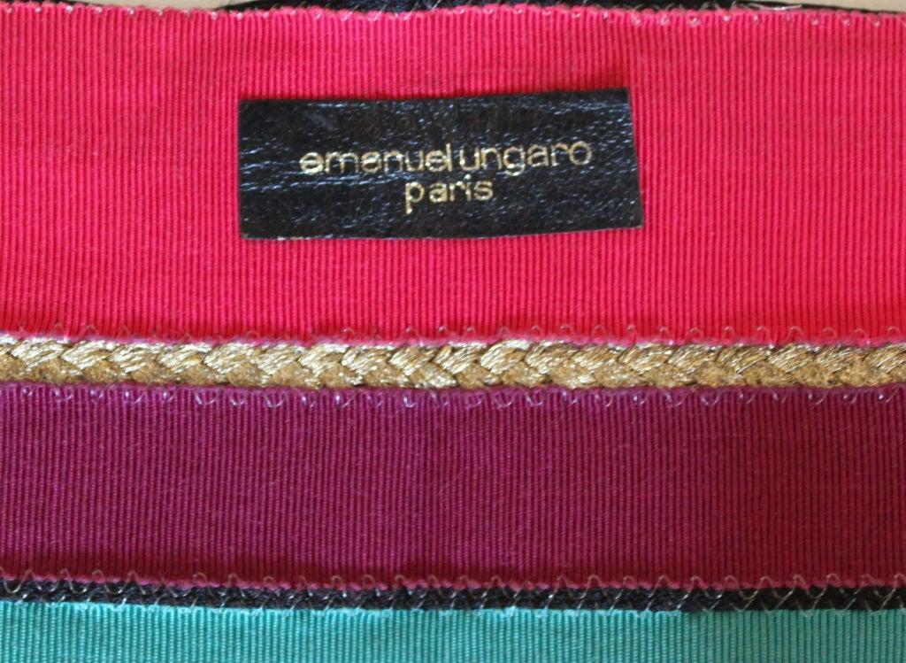 1970's EMANUEL UNGARO belt with gilt art nouveau buckle 2