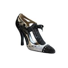 Tom Ford for Yves Saint Laurent rhinestone spectator heels - 38