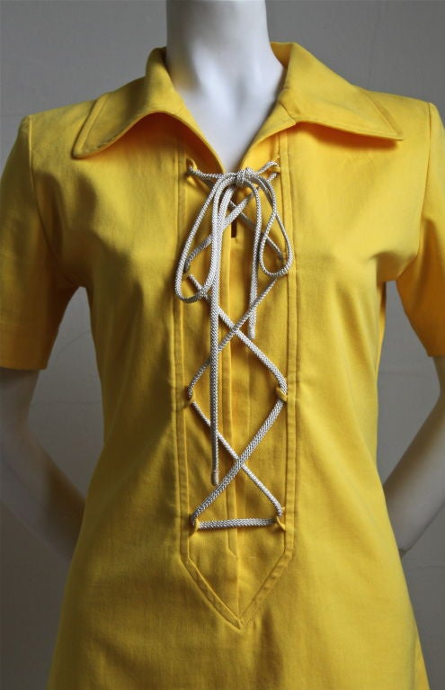 YVES SAINT LAURENT yellow safari dress 2