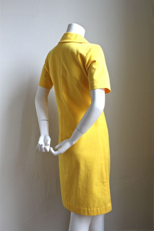 YVES SAINT LAURENT yellow safari dress 3