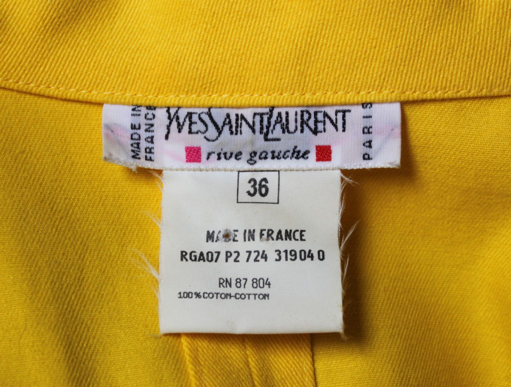 YVES SAINT LAURENT yellow safari dress 4