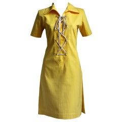 YVES SAINT LAURENT yellow safari dress